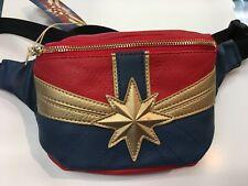 Loungefly Marvel Captain Marvel Red, Gold, Blue Fanny Pack Zip Adjustable