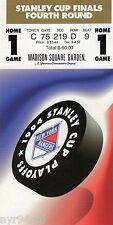 1994 WORLD CHAMPION NEW YORK RANGERS STANLEY CUP FINALS TICKET STUB GAME 1