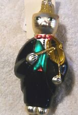Patricia Breen Christmas Ornament Breen Fiddling Cat