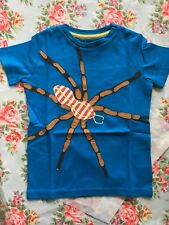 NEW Mini Boden Appliqué T Shirt Tee - Blue Spider - Age 5 to 6