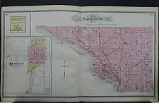 Illinois, Carroll County Map, 1908 Washington Township Dbl Pg L17#48