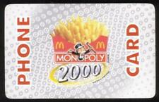 20m Monopoly 2000 & McDonald's French Fries Phone Card