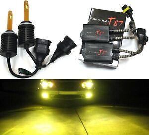 LED M10 Canceler 898 3000K Golden Two Bulb Fog Light Upgrade Replacement Lamp OE