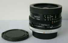 Tamron 28mm f2.5 02B Wide Angle Lens Inc Canon FD Adapter Fit AE-1 A-1 Etc