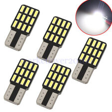 5Pcs Car T10 Canbus W5W 5SMD LED Wedge Light Plate License 168 194 2825 Bulbs