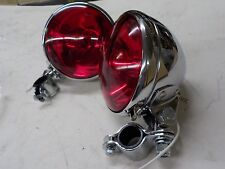 """PANHEAD KNUCKLEHEAD """"NEW REPO"""" POLICE SPOT LIGHTS RED #68653-38A"""