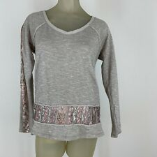 Maurices woman's shirt sweatshirt size medium south western sequined Tan