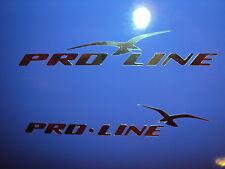 2 PROLINE BOAT DECALS Chrome Marine Vinyl set 50 inch pro line decals