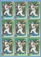 Sammy Sosa Rookie LOT X 9 1990 Topps #692 Chicago White Sox Cubs RC