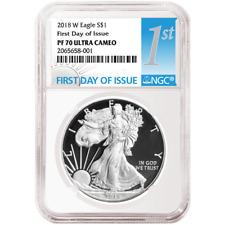 2018-W Proof $1 American Silver Eagle NGC PF70UC FDI First Label