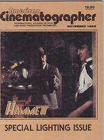 NOV 1982 AMERICAN CINEMATOGRAPHER movie magazine HAMMETT - LIGHTING