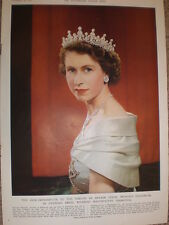 Photo article Princess Elizabeth en grande tenue by Karsh of Ottawa 1951