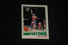 CHRIS FORD 1977-78 TOPPS SIGNED AUTOGRAPHED CARD #121 PISTONS
