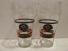 "ENJOY COCA-COLA Chicago Bears HELMET Logo, 6 1/4"" H~Holds 16 oz~GLASSESS"