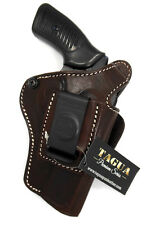 TAGUA BROWN LEATHER 4 in 1 OWB IWB SOB THUMB BREAK HOLSTER RUGER SP101 REVOLVER