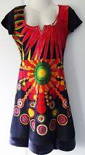 New Desigual Ladies Dress,Half Sleeve, Black & Red, Size M