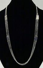New Multi Strand Silver Tone Fashion Necklace by Banana Republic nwt #BRN9