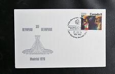 TIMBRES DU CANADA : XXIème OLYMPIADE MONTREAL 1976 - OBLITERATION DU 17 VII 1976