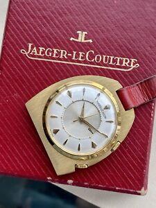 Jaeger LeCoultre Memovox Key Chain Alarm Pocket Watch Travel Box near Mint + Box