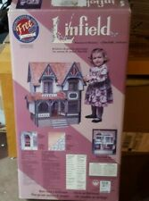 DURA CRAFT 1994 LINFIELD MANSION WOOD DOLL HOUSE KIT #LN 190 w/ Video