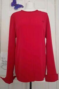 Louis Feraud Red Tunic Cuff Top UK 8 Retro 60s 70s oversize party festive mod