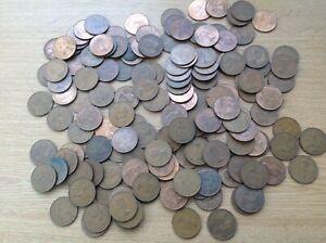 Pre Decimal One Penny Coins Elizabeth II Bundle of 1.5kg Job Lot unsorted