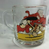 GARFIELD CHARACTERS VINTAGE GLASS MUG COLLECTIBLE CUP JIM DAVIS 1978 MCDONALDS