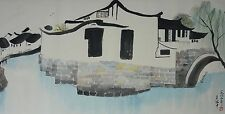 Excellent Chinese Scroll Painting By Wu Guanzhong  JP-010 吴冠中