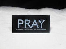 New ~ Glass Pray Inspirational Plaque