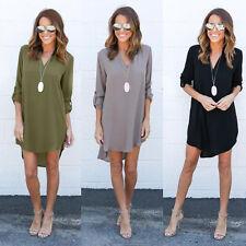 Fashion Women Ladies Summer Long Sleeve Loose T-Shirt Casual Blouse Shirt Tops
