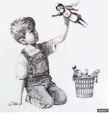 Banksy - Superhero health workers, nurse  canvas Art Print