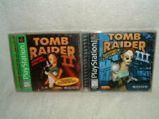 Playstation 1 Ps1 Tomb Raider Game Lot 2 Greatest Hits and 3 Black Label Croft
