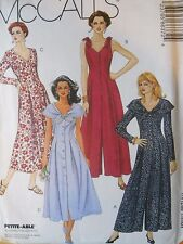 McCall's Sewing Pattern--Misses' JUMPSUIT & DRESS-Size: 10--Petite-able--UNCUT!