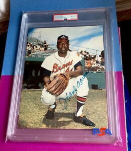 Hank Aaron Signed 8x10 Color Photo - PSA/DNA Authentic - Atlanta Braves