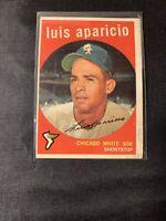 Vintage 1959 Topps Baseball card #310, LUIS APARICIO, Chicago White Sox, HOF'er