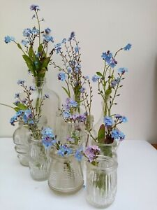 Vintage Wedding Glass Vases Collection x 12