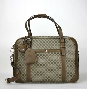 Gucci Unisex Beige/brown Diamante Briefcase w/Leather Trim 267898 9788