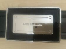 Karen Millen Ladies Black Patent Look Belt - WORN TWICE  - Size 3 - Paid £60