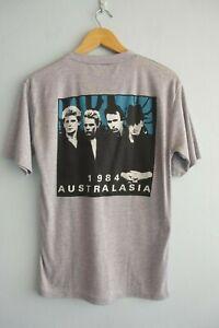Vintage U2 The Unforgettable Fire 1984 Australasia Tour Grey T-Shirt sz M