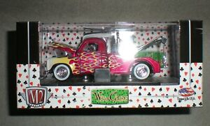 1/64th M2 Machines Wild Cards 1951 Studebaker 2R Tow Truck Red w/Flames