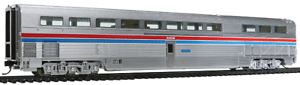 Walthers HO Metal Plated AMTRAK Phase II 85' Budd Hi-Level Diner New