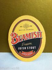 "Beamish Genuine Irish Stout ""Be Irish"" oval beer coaster coasters 1 S6"