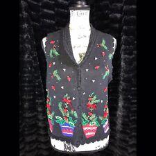 Vintage Ugly Christmas Sweater Vest!! Medium Petite - *EUC*