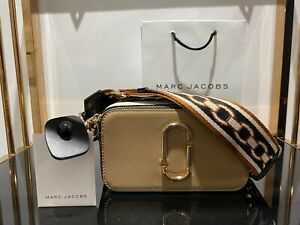 MARC JACOBS Snapshot Colourblock chain print strap Small Camera Bag 100% AUTHENT