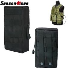 Utility Tactical Military MOLLE Tool/Accessory Pouch Bag for Vest Backpack Black