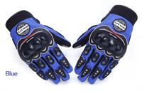 Gants de scooter moto scooter écran tactile bleu homologue CE
