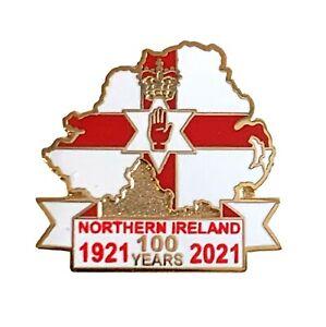 Northern Ireland Centenary 100 Years Enamel Lapel Pin Badge 1921-2021