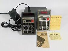 Bowmar 901B Vintage Calculator w/ Case + Manual + Documents (works well)
