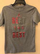 Air Jordan Youth Large boys T-shirt athletic top tee pullover shirt Gray red