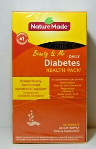 Nature Made Daily DIABETIC Health Pack 60 Packets